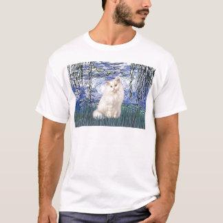 Lilies 6 - White Persian cat T-Shirt