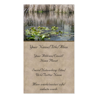 Lilies and Cattails Double-Sided Standard Business Cards (Pack Of 100)