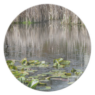 Lilies and Cattails Melamine Plate