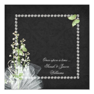 Lilies and Diamonds Vow Renewal Card