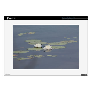 """Lilies and Dragonfly 15"""" Laptop Decal"""