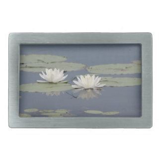 Lilies and Dragonfly Rectangular Belt Buckle