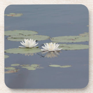Lilies and Dragonfly Drink Coaster