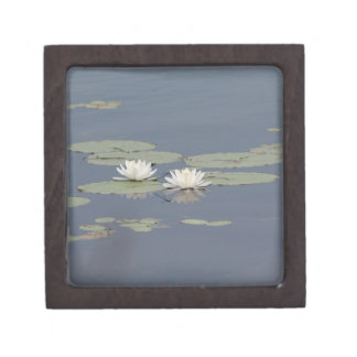 Lilies and Dragonfly Jewelry Box