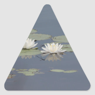 Lilies and Dragonfly Triangle Sticker