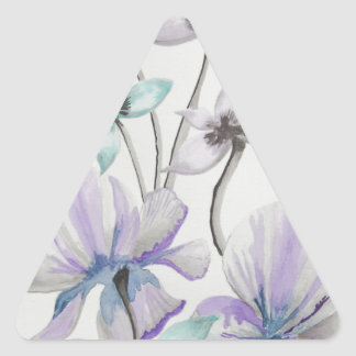 Lilies and Orchids Triangle Sticker