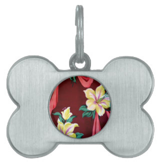 lilies and ribbons pet name tag