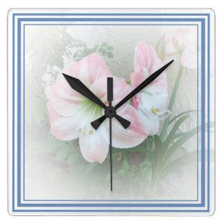 Lilies blue 3 Clock