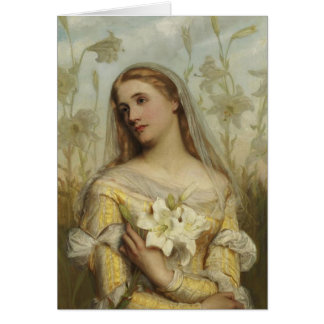 Lilies by Gustav Pope d 1895 Blank Note Card Cus