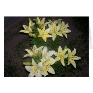 Lilies Greeting Cards