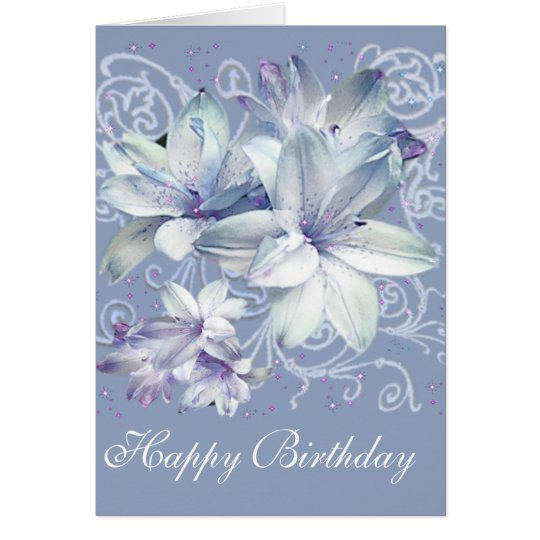 Lilies (customizable) card