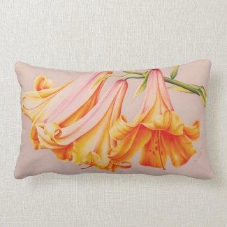 """""""Lilies"""" fine art by artist natural lumber pillow"""