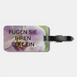 Lilies flowers photography luggage supporter bag tag