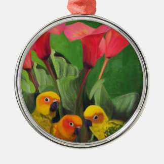 Lilies Grotto Metal Ornament