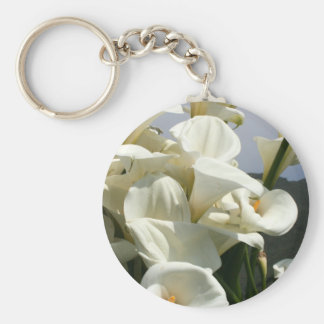 Lilies growing at Calla Lily Plantation, Taiwan Basic Round Button Keychain