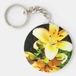 Lilies in Bloom Photograph Key Chain
