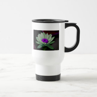 Lilies in green 15 oz stainless steel travel mug