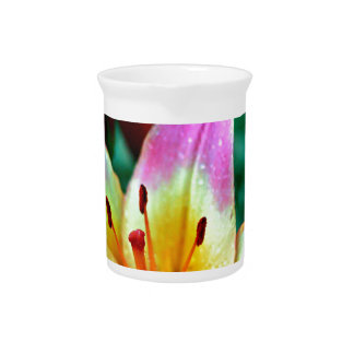Lilies in Rain Pitcher