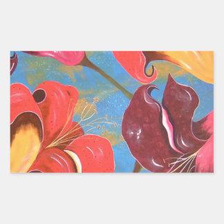 Lilies in the Garden of Eden Rectangular Sticker