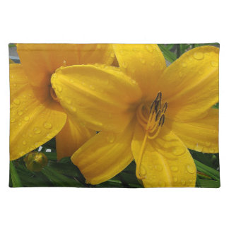 Lilies in the Rain American MoJo Placemat