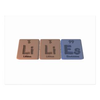 Lilies-Li-Li-Es-Lithium-Lithium-Einsteinium.png Postcard