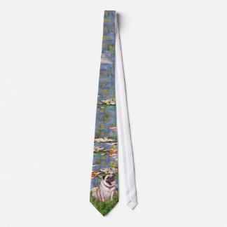 Lilies (Monet) - Fawn Pug #2 Neck Tie
