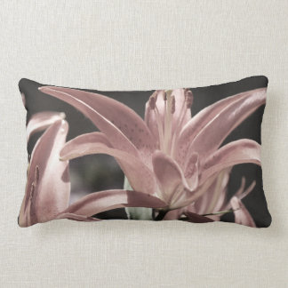 Lilies-Muted Tones by Shirley Taylor Lumbar Pillow