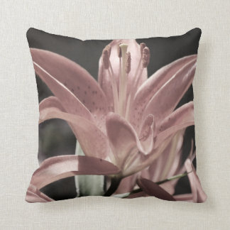 Lilies-Muted Tones by Shirley Taylor Throw Pillow