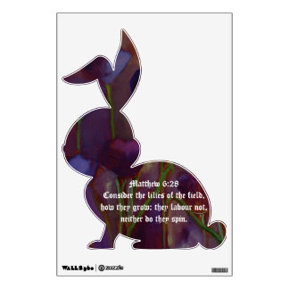 Lilies of the Field - Bunny Wall Decal