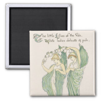 Lilies of the Vale from Flora s Feast 1901 colo Fridge Magnet