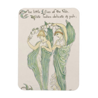 Lilies of the Vale from Flora s Feast 1901 colo Rectangle Magnets