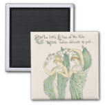 Lilies of the Vale, from Flora's Feast, 1901 (colo 2 Inch Square Magnet