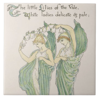 Lilies of the Vale, from Flora's Feast, 1901 (colo Ceramic Tile