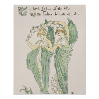 Lilies of the Vale, from Flora's Feast, 1901 (colo Poster