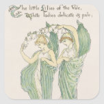 Lilies of the Vale, from Flora's Feast, 1901 (colo Square Sticker