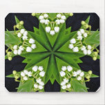 Lilies of the valley mandala mouse pad