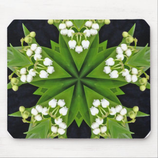 Lilies of the valley mandala mouse mat