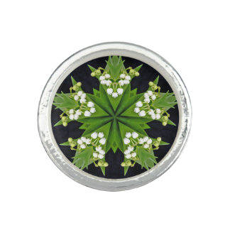 Lilies of the Valley Mandala Photo Ring