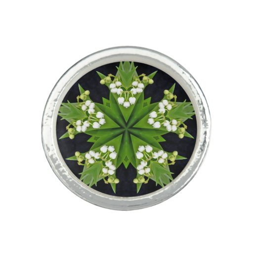 Lilies of the Valley Mandala Photo Rings