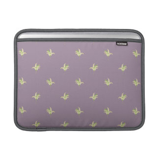 Lilies of the Valley Posies on Mauve Background Sleeve For MacBook Air