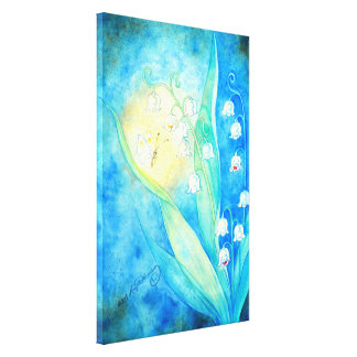 Lilies Of The Valley With Butterfly Canvas Print
