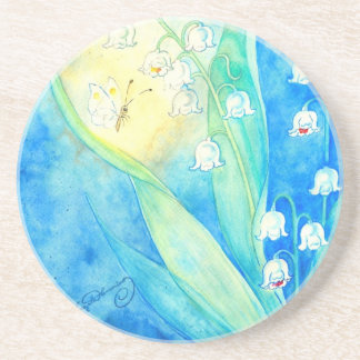 Lilies Of The Valley With Butterfly Coasters