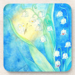 Lilies Of The Valley With Butterfly Drink Coasters