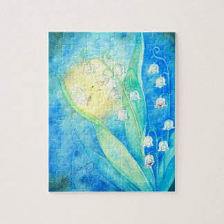 Lilies Of The Valley With Butterfly Jigsaw Puzzles