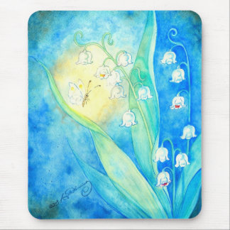 Lilies Of The Valley With Butterfly Mouse Pads
