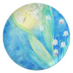 Lilies Of The Valley With Butterfly Party Plates