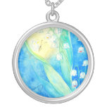 Lilies Of The Valley With Butterfly Pendant