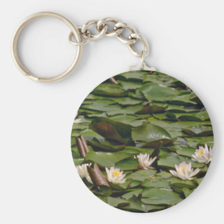 Lilies On Pads flowers Key Chain