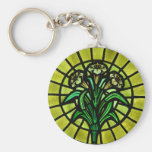 Lilies on Stained Glass Keychains