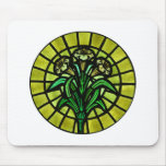 Lilies on Stained Glass Mouse Pads